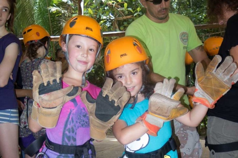 Sophie & Elvie about to Zip!
